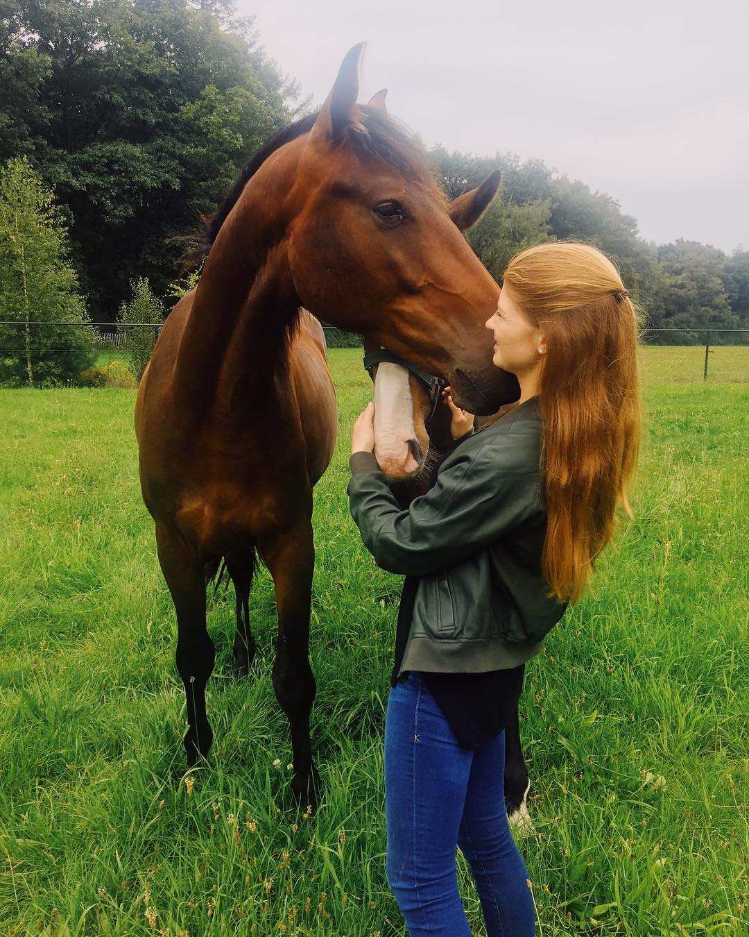 Jennifer with one of her horses