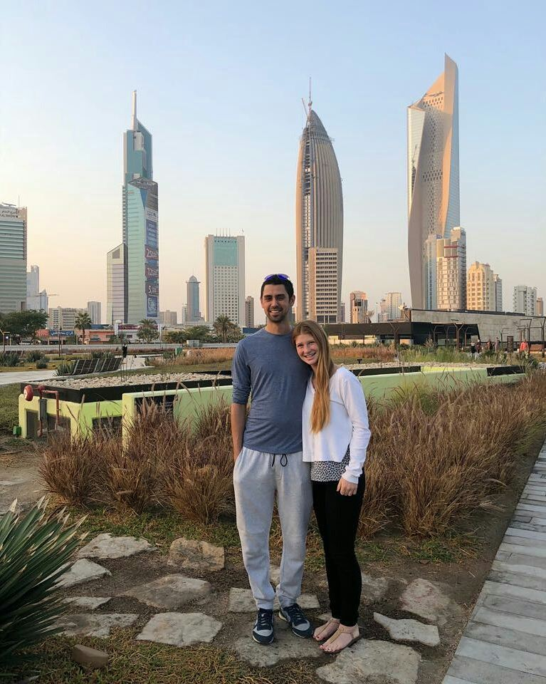 Nayel Nassar with Jennifer Gates in Kuwait