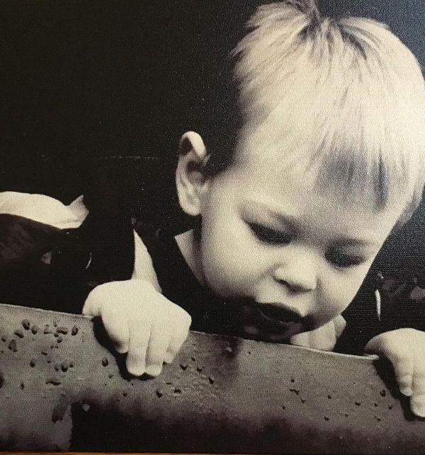 A childhood photo of Nathan Baldwin taken in 2004
