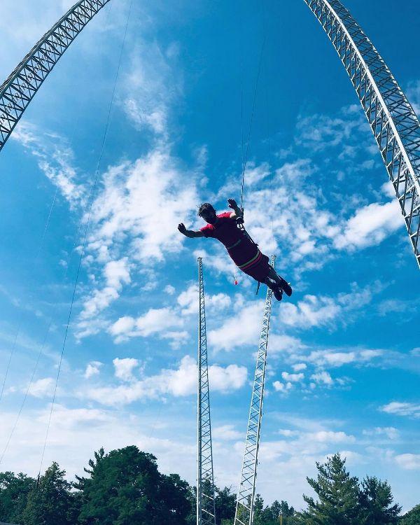 Nathan Baldwin as a skyflyer