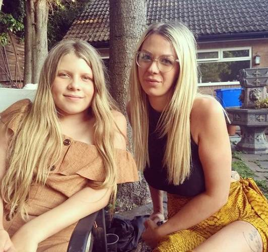 Alexandra Hall with her stepdaughter
