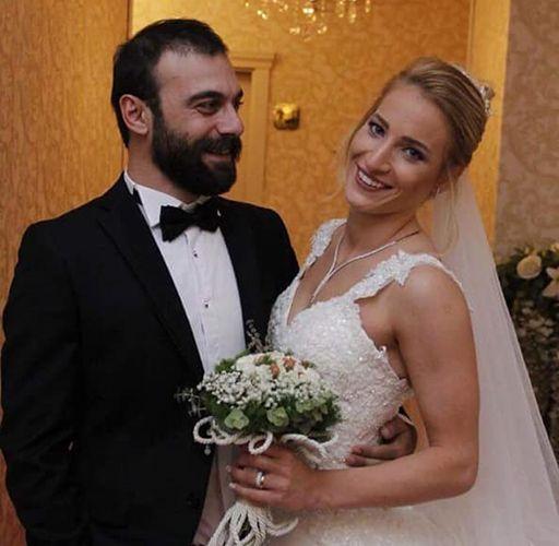 Wedding photograph of Cavit Çetin Güner and Hatice Gizem Örge