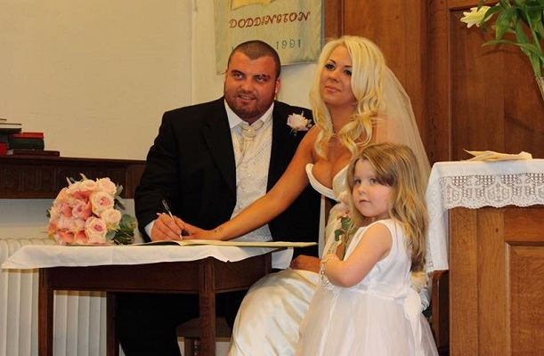 A wedding picture of Alexandra and Eddie Hall