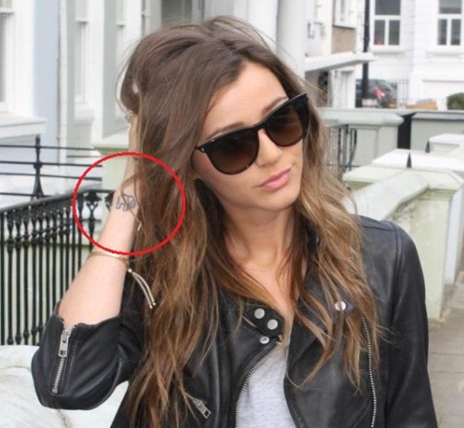 Elephant inked on Eleanor Calder's wrist