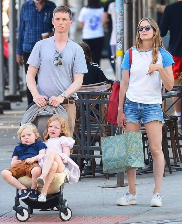 Hannah Bagshawe with her husband and children