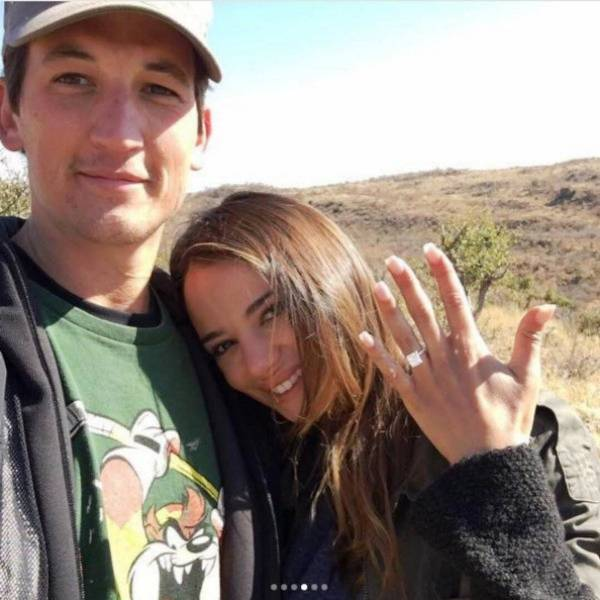 Keleigh Sperry and Miles Teller's engagement picture