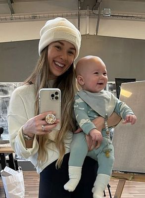 Kelsey Henson with her son