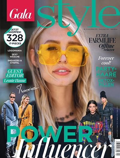 Leonie Hanne on the cover of Gala Style