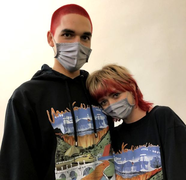 Reuben Selby and Maisie Williams flaunting their red hair