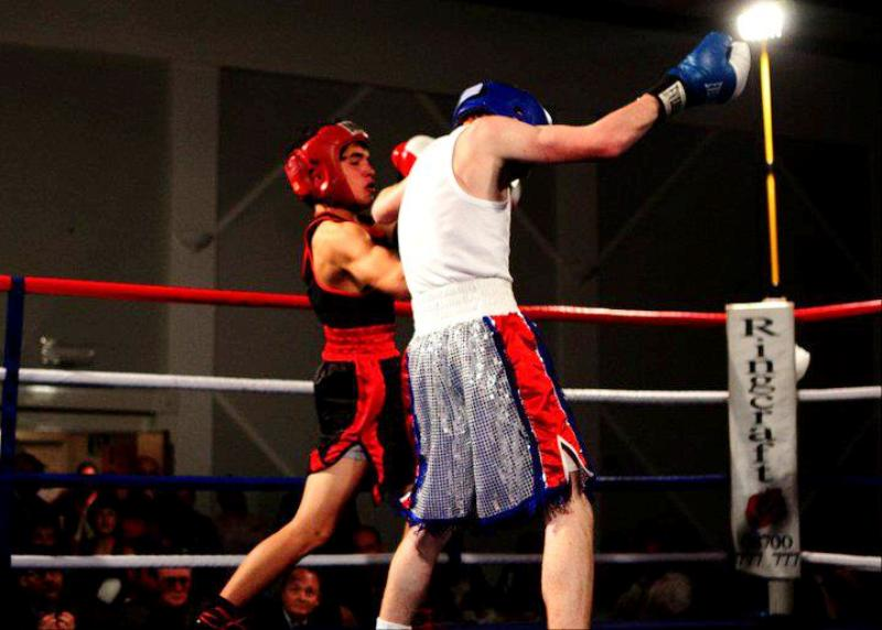 Reuben Selby in the boxing ring