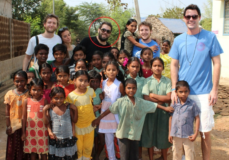 Simon Konecki undertaking projects in Andhra Pradesh, which provided 50,000 people clean drinking water