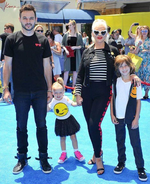 Matthew Rutler, Christina Aguilera, Max Liron Bratman, and Summer Rain Rutler