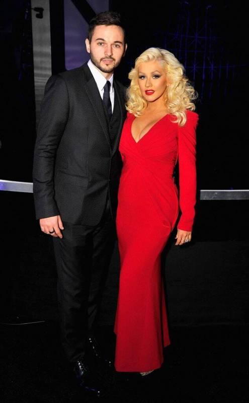 Matthew Rutler with his wife Christina Aguilera