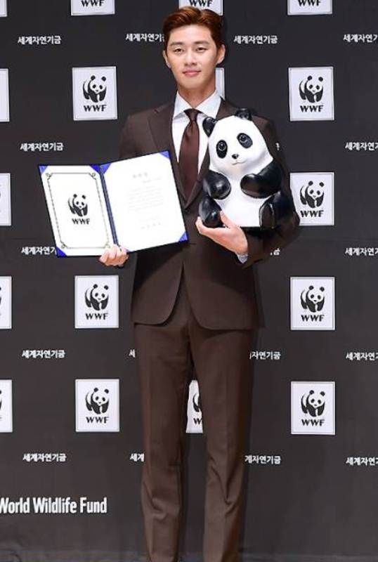 Park Seo-joon during a promotional event for World Wildlife Fund