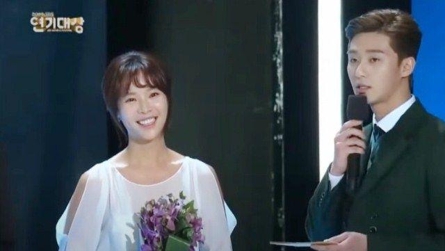 Park Seo-joon hosting the 2014 SBS Drama Awards
