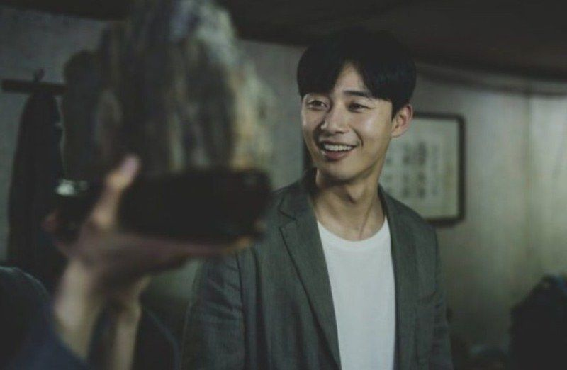 Park Seo-joon in a scene from Parasite (2020)