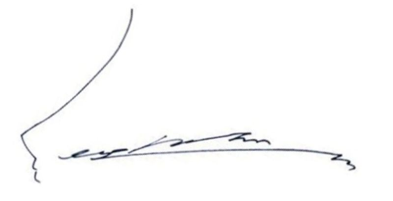 Park Seo-joon's signature