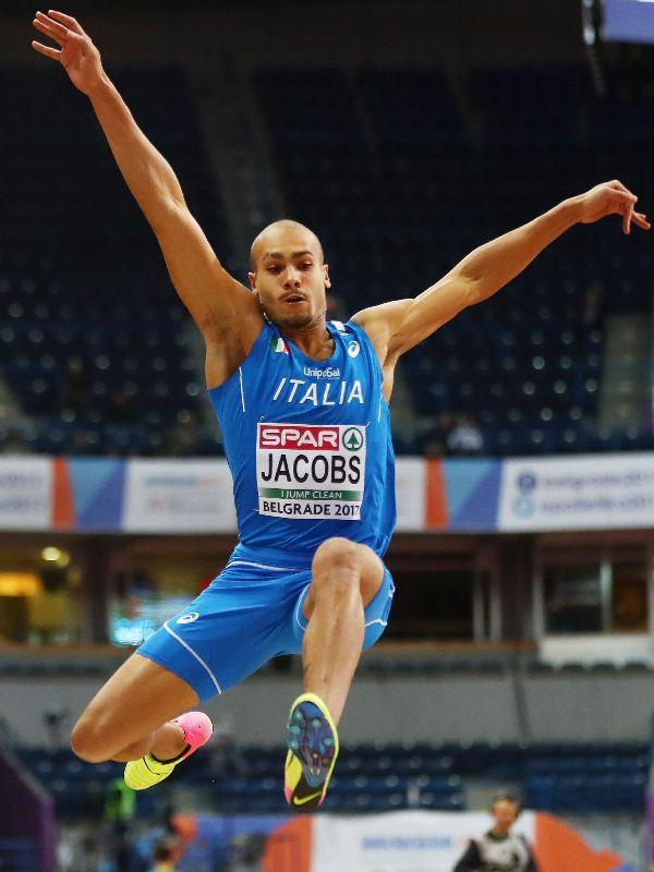 Lamont Marcell Jacobs at the 2017 European Athletics Indoor Championships