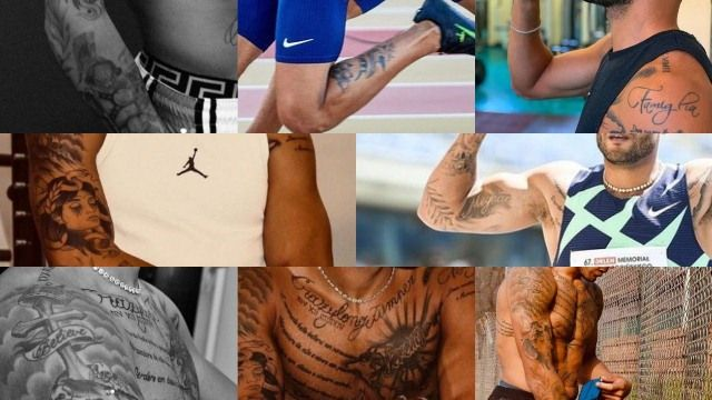 Lamont Marcell Jacobs' tattoos