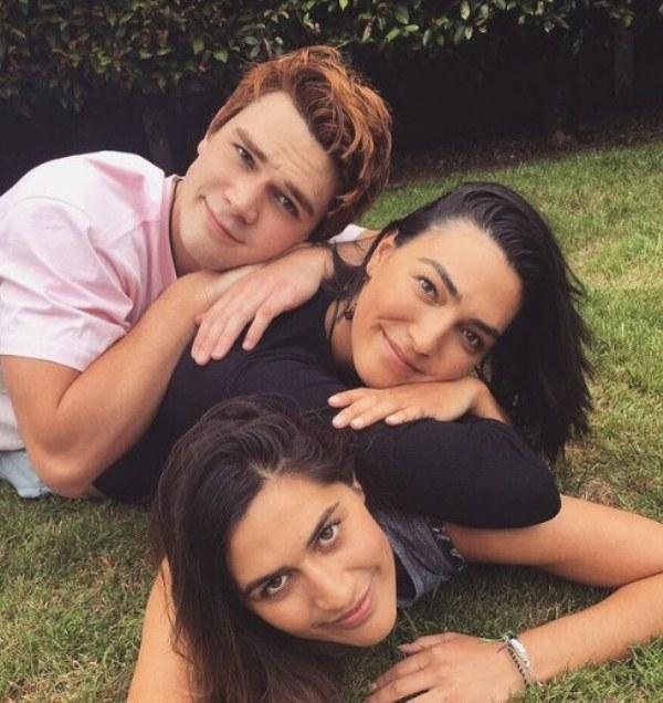 KJ Apa with his sisters